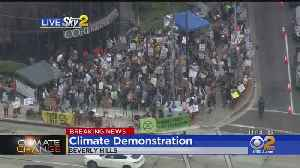 Climate Activists Protest Outside Consulate General Of Brazil [Video]