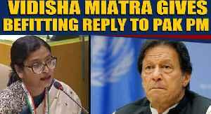 News video: Vidisha Maitra gives stinging response to Pak PM Imran Khan, netizens praise her speech