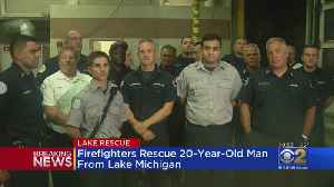 Man Rescued From Lake Michigan During Heavy Storm, Dangerous Conditions [Video]