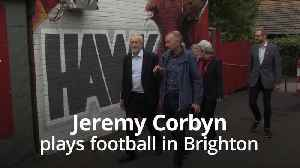 Jeremy Corbyn tests his football skills in Brighton [Video]