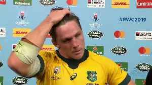 Michael Hooper's post match interview after gruelling Wales clash [Video]