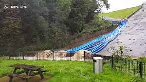 Toddbrook Reservoir in Whaley Bridge fills but holds firm despite heavy rain [Video]