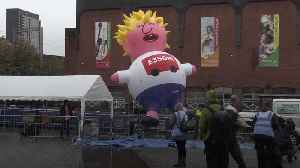 Boris blimp inflated in Manchester [Video]