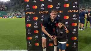 Jonny Gray wins Mastercard Player of the Match for Scotland [Video]