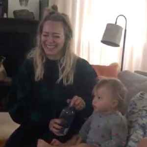 Aww! Hilary Duff Has a 'Family Viewing' of The Lizzie McGuire Movie With Her Kids [Video]