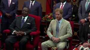 Prince Harry talks on poaching, female education, on visit to Malawi [Video]