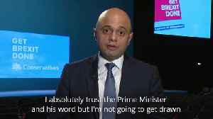 Sajid Javid: I trust Boris Johnson [Video]