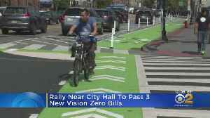 Street Safety Rally Held Near City Hall, Calls For Better Bike Lanes And Protections [Video]