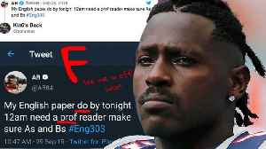Antonio Brown ROASTED On Twitter After Asking For HELP For His English Homework! [Video]