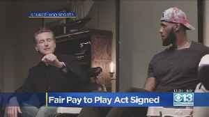 News video: Gov. Newsom Signs Fair Pay To Play Act