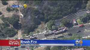 Firefighters Quickly Halt Brush Fire Threatening Homes In Pacific Palisades [Video]