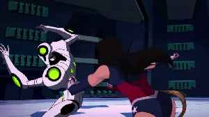 Wonder Woman Bloodlines movie clip - Robot Fight [Video]