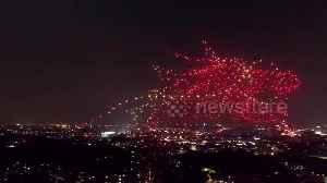 Thousand illuminated drones create stunning imagery marking China's 70th anniversary [Video]