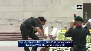 Lt Gen PJS Pannu pays homage to slain soldiers at National War Memorial [Video]