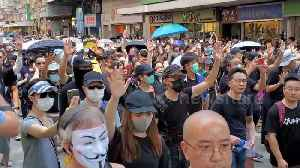 News video: Hong Kong protesters take to the streets as China marks 70 years of Communist rule