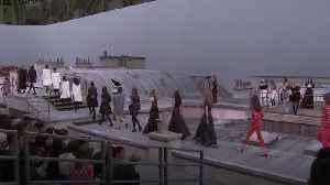 Gigi Hadid confronts catwalk intruder in Paris [Video]