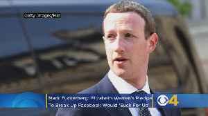 Mark Zuckerberg: Elizabeth Warren's Pledge To Break Up Facebook Would 'Suck For Us' [Video]