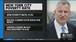 De Blasio: NYC Poverty Rate Hits Historic Low [Video]