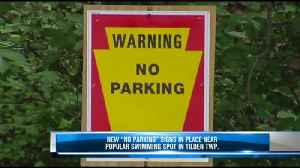 """New """"no parking"""" signs near """"Peace Rock"""" [Video]"""