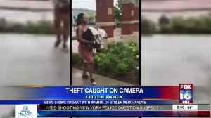 Video Shows Suspect with Armful of Stolen Merchandise [Video]
