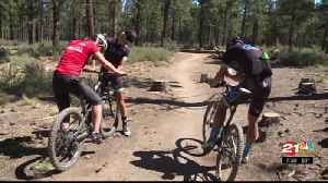 Olympic Zone: A.J. hits mtn. bike trail [Video]