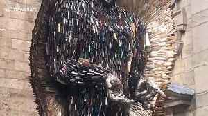 Imposing Knife Angel made from 100,000 blades seized by police arrives in Derby [Video]
