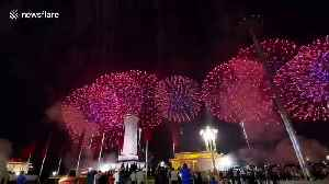 Fireworks light up Tiananmen Square on China's National Day celebration [Video]