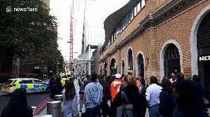 Police cordon off the Shard as man scales nearby crane and 'threatens to harm himself' [Video]