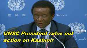 UNSC President rules out action on Kashmir [Video]