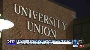 Students speak out about sexual assault at Towson [Video]