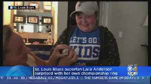Laila Anderson, Inspirational St. Louis Blues Superfan, Gets Stanley Cup Ring [Video]