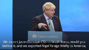 Boris Johnson: The best jokes from his conference speech
