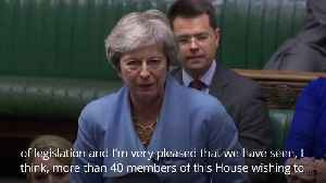 May makes first Commons speech since returning to backbenches [Video]
