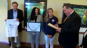 Local Olympian honored [Video]