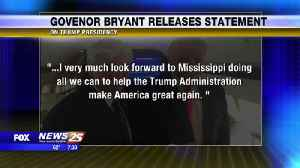 Governor Bryant Releases Statement [Video]