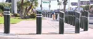 Clark County cutting down bollards on the Strip [Video]