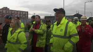 Harland and Wolff staff applaud as they return to work [Video]
