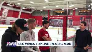 Red Wings top line, Bertuzzi, Mantha, and Larkin, eye a big year [Video]