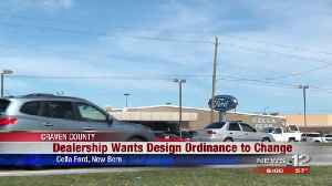 Car dealership wishes to change ordinance [Video]