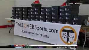 NBA Star Steph Curry Donates 400 Pair of Shoes to Kids [Video]