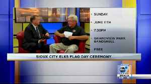 Sioux City Elks Flag Day Ceremony [Video]