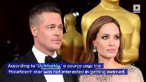Angelina Jolie Felt 'Pressured' to Marry Brad Pitt [Video]