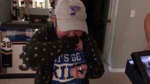 St. Louis Blues Surprise Superfan Laila With Ring [Video]