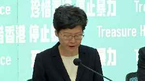 Carrie Lam announces face mask ban to counter Hong Kong protests [Video]