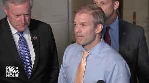 Rep. Jim Jordan speaks on Volker's testimony before Congress [Video]