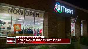 Car crashes into thrift store in West Allis [Video]