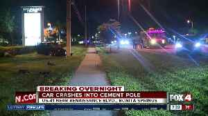 Car crashes into concrete utility pole in Bonita Springs [Video]