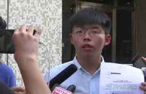 Hong Kong protest leader Wong condemns anti-mask law [Video]