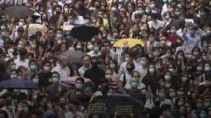News video: Hong Kong leader bans protesters' masks
