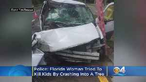 Police: Florida Mother Tries To Kill Kids By Crashing Into Tree, Claims Husband Put Hex On Her [Video]